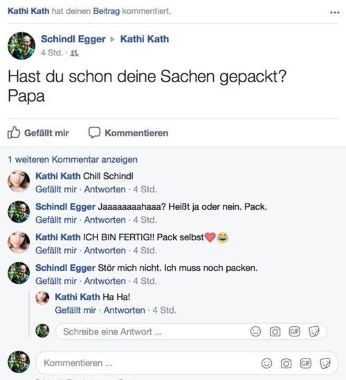 Habt ihr diesen Dialog zwischen Vater Schindl und Tochter Kathi verpasst? Verbin…