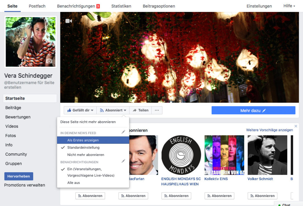 Seestadt-Saga Facebook Seiten abonnieren