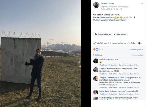 Aufregung und lebhafte Diskussion über Timur Yilmaz´ Mauerposting: