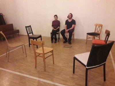 Selten so gelacht. Erste Theaterprobe. More to come!